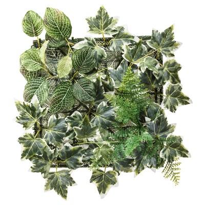 FEJKA Planta artificial, de montaxe en parede/int/ext verde, 26x26 cm