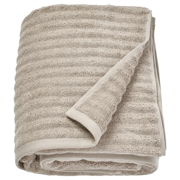 FLODALEN Toalla de baño, beixe escuro, 100x150 cm