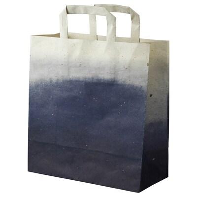 FÖRÄNDRING Bolsa de agasallo, xogo de 3, á man/palla de arroz natural, 33x10 cm