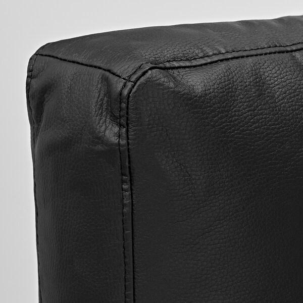FRIHETEN Sofá cama esquina con almacenaxe, coxíns respaldo extra/Bomstad negro
