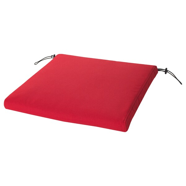 FRÖSÖN Funda coxín, exterior vermello, 50x50 cm