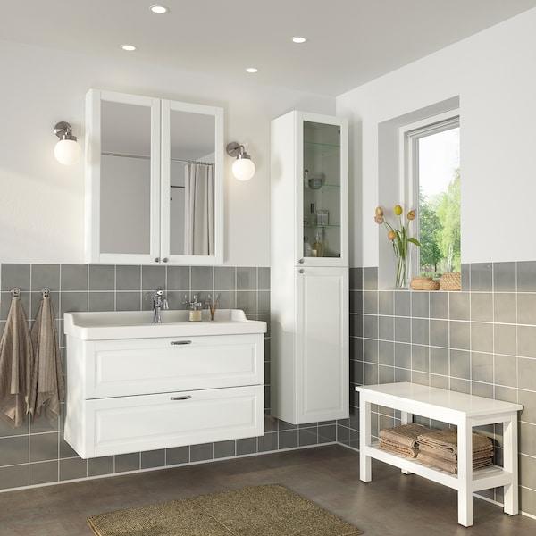 GODMORGON / RÄTTVIKEN Mobles de baño x5, Kasjön branco/Hamnskär billa, 102 cm