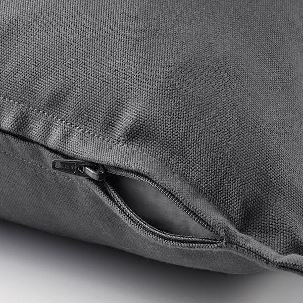 GURLI Funda de coxín, gris escuro, 50x50 cm