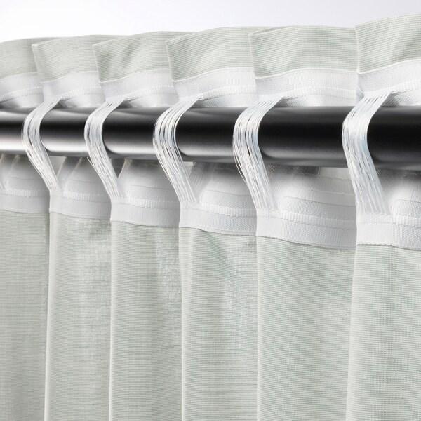 HANNALILL Cortina, 1par, verde claro, 145x300 cm
