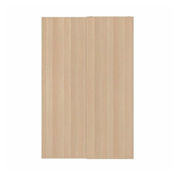 HASVIK Portas corredizas, 2 uds, efecto carballo tintura branca, 150x236 cm