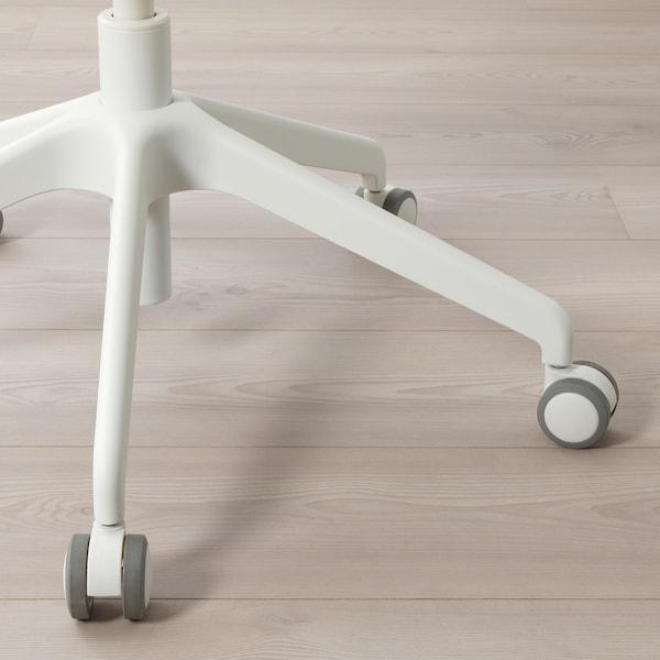 HATTEFJÄLL Cadeira de traballo con repousabraz, Gunnared beixe/branco