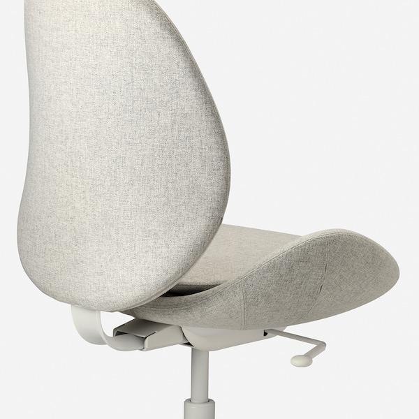 HATTEFJÄLL Cadeira de traballo, Gunnared beixe