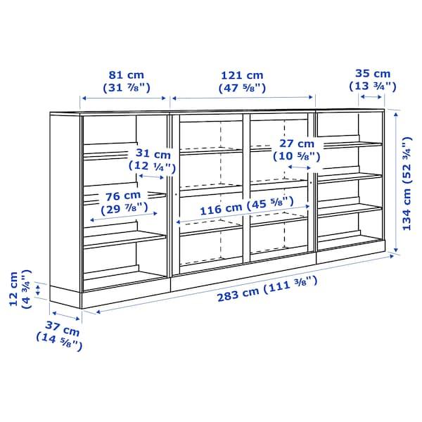HAVSTA Combi armario port corred vidro, marrón escuro, 283x37x134 cm