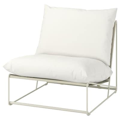 HAVSTEN Cadeira de brazos int/ext, beixe, 83x94x90 cm