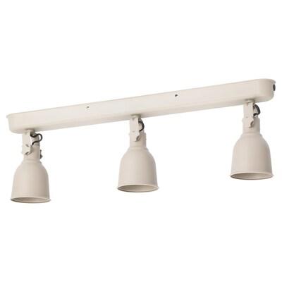 HEKTAR Lámpada teito&3 focos, beixe