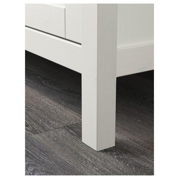 HEMNES Armario&2 portas corredizas, tintura branca, 120x197 cm