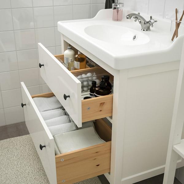 HEMNES / RÄTTVIKEN Mobles de baño x5, branco/Runskär billa, 82 cm