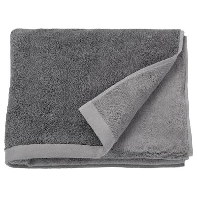 HIMLEÅN Toalla de baño, gris escuro/mestura, 70x140 cm