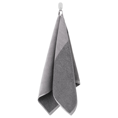 HIMLEÅN Toalla de man, gris escuro/mestura, 50x100 cm