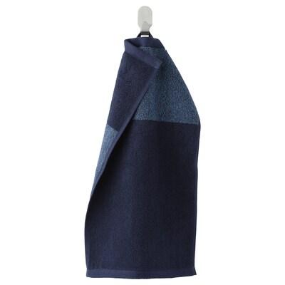 HIMLEÅN Toalla de man visitas, azul escuro/mestura, 30x50 cm