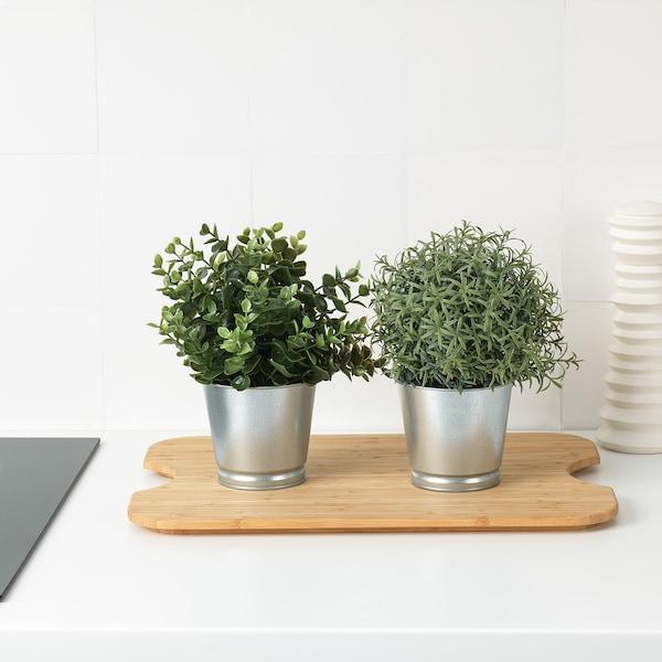 HÖGSMA Táboa de cortar, bambú, 42x31 cm