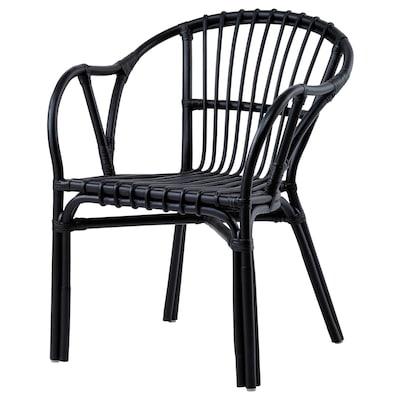 HOLMSEL Cadeira de brazos, negro