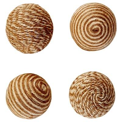 HÖSTMYS Adorno bóla, beixe, 8 cm