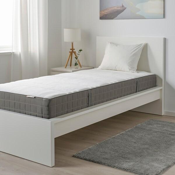 HÖVÅG Colchón resortes ensacados, extra firme/gris escuro, 90x200 cm