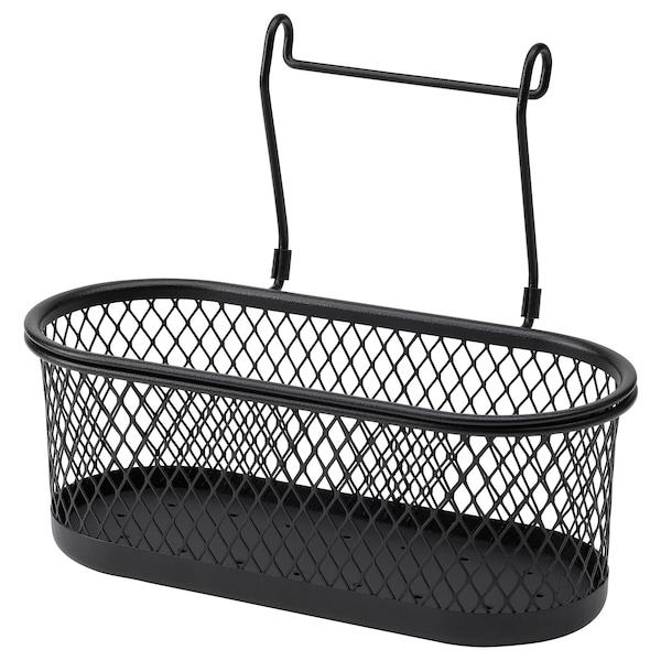 HULTARP Recipiente, negro/malla, 31x16 cm