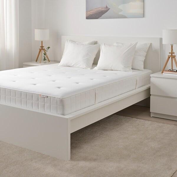HYLLESTAD Colchón resortes ensacados, firme/branco, 135x190 cm