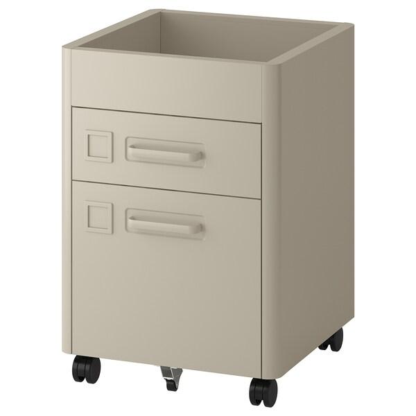 IDÅSEN Moble de caixóns con rodas, beixe, 42x61 cm