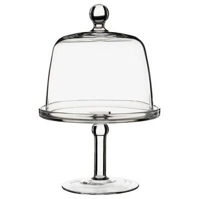 INBJUDEN Fonte con tapa, vidro incoloro, 19 cm