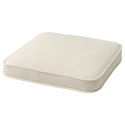 JÄRPÖN/DUVHOLMEN Coxín cadeira ext, branco, 44x44 cm