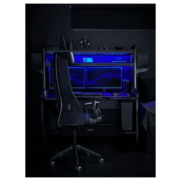 JÄRVFJÄLLET Cadeira de traballo con repousabraz, Glose negro