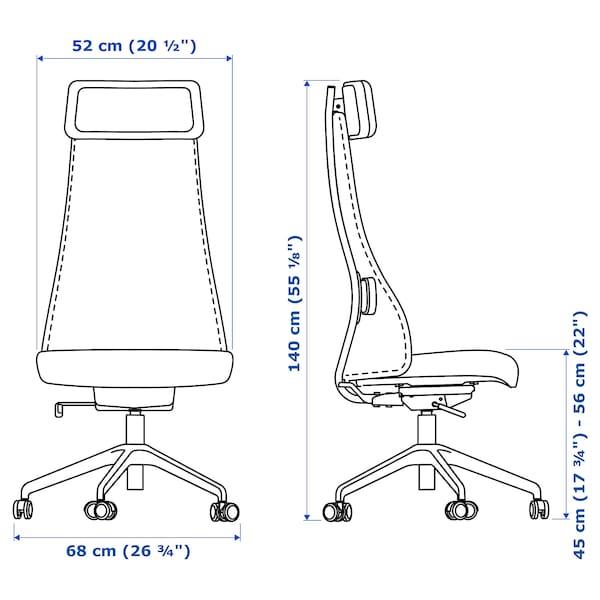 JÄRVFJÄLLET Cadeira de traballo, Glose negro