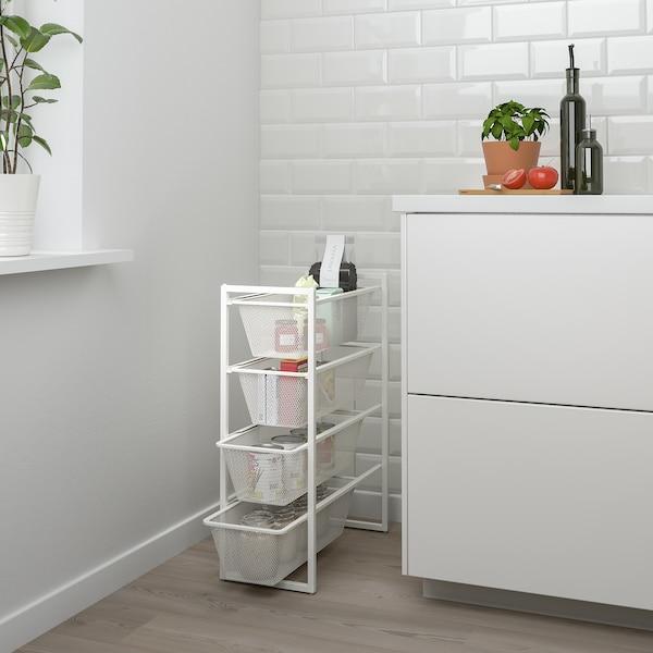 JONAXEL Estrutura e cestos reixa, branco, 25x51x70 cm