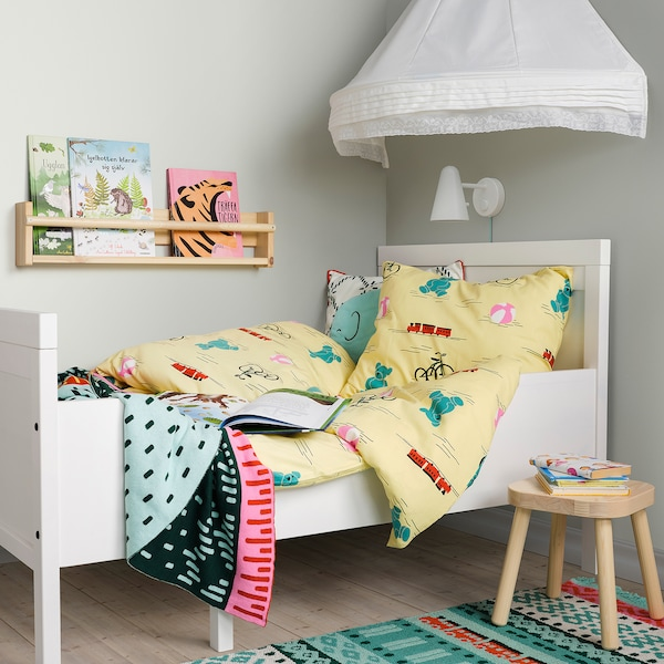 KÄPPHÄST Funda nórd e funda para almofada, xoguetes amarelo, 150x200/50x60 cm