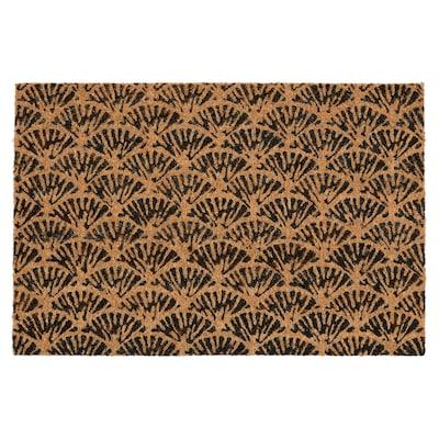 KASKADGRAN Felpudo, interior, natural/marrón escuro, 40x60 cm