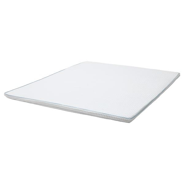KNAPSTAD Colchonciño/parte superior confort, branco, 160x200 cm
