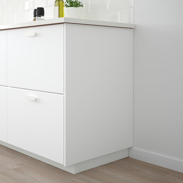 KUNGSBACKA Panel lateral, branco mate, 62x240 cm