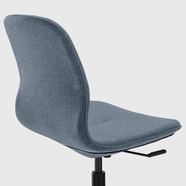 LÅNGFJÄLL Cadeira de traballo, Gunnared azul/negro