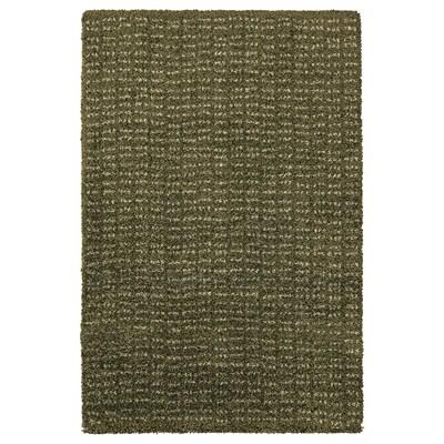 LANGSTED Alfombra, pelo curto, verde escuro, 60x90 cm
