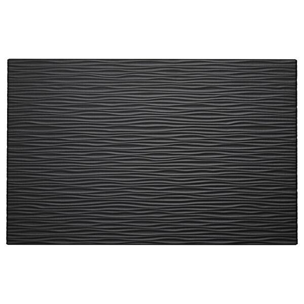LAXVIKEN Porta/fronte de caixón, negro, 60x38 cm