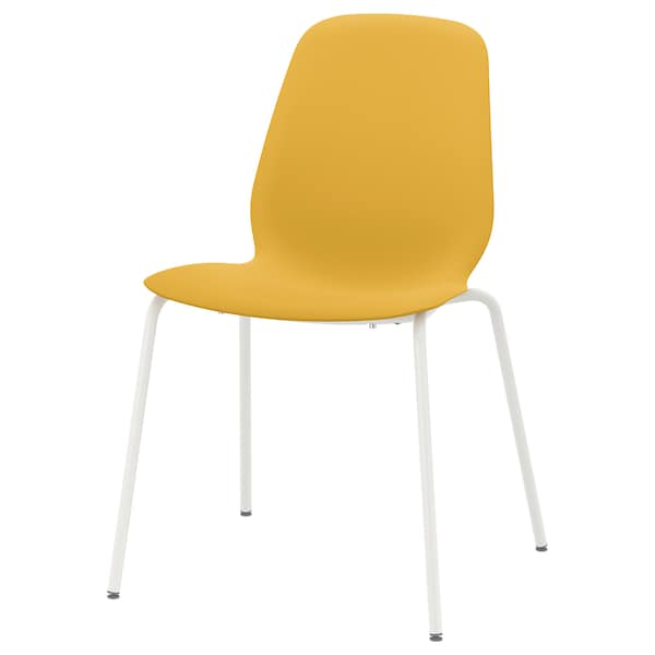 LEIFARNE Cadeira, amarelo escuro/Broringe branco