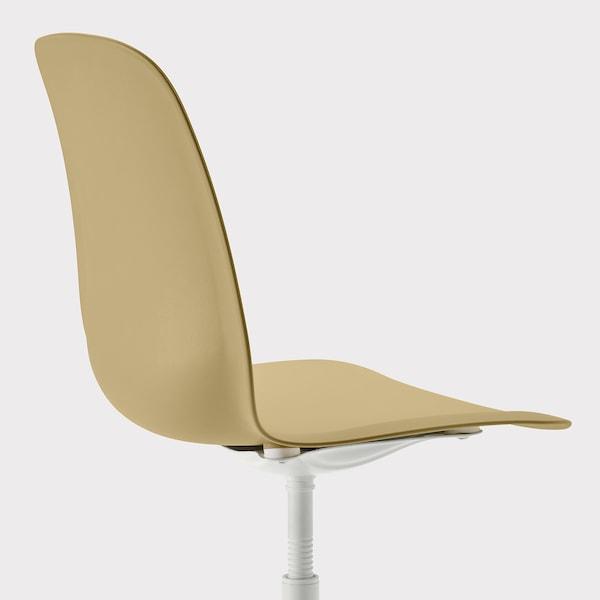LEIFARNE Cadeira xiratoria, verde oliva/Balsberget branco