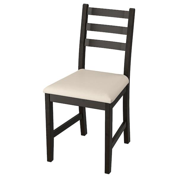 LERHAMN Cadeira, negro-marrón/Vittaryd beixe