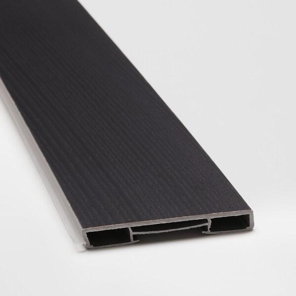 LERHYTTAN Zócolo, tintura negra, 220x8 cm