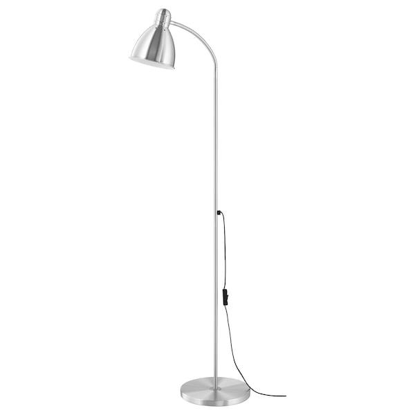 LERSTA Lámpada de pé/de lectura, aluminio