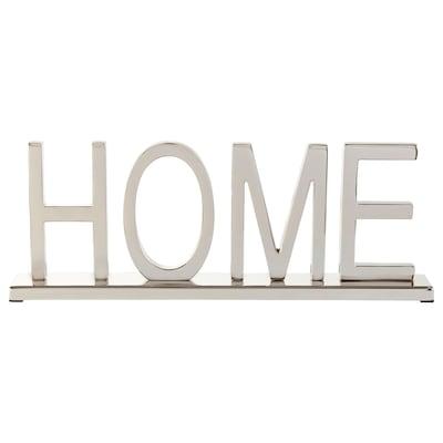 LINDRANDE Adorno, casa gris prata, 11 cm