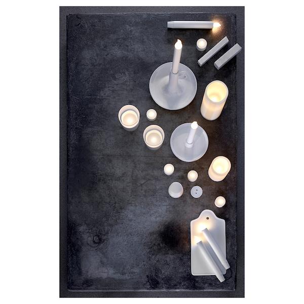 LJUSANDE Candea LED, a pilas/natural, 20 cm