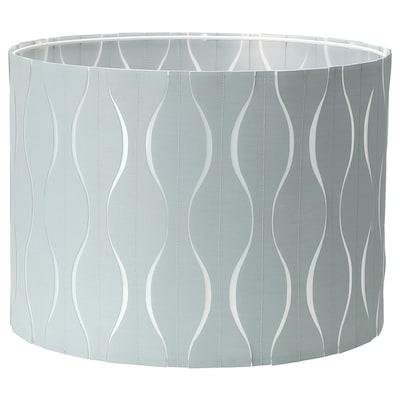 LÖKNÄS Pantalla para lámpada, azul/gris prata, 42 cm