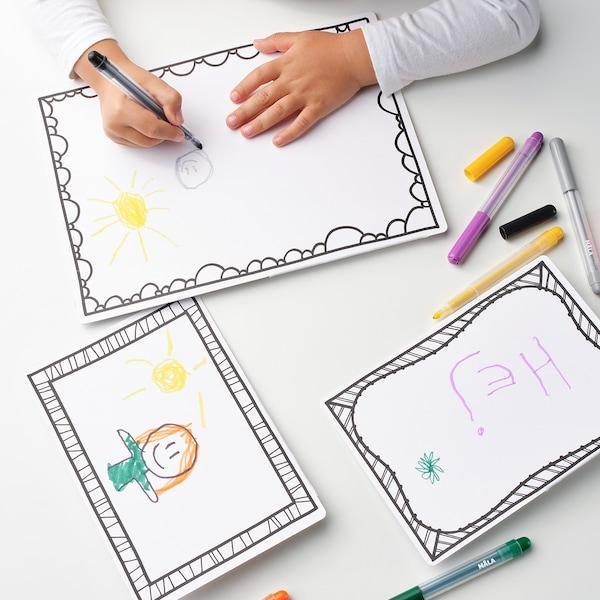 MÅLA Cartolina debuxo con marco