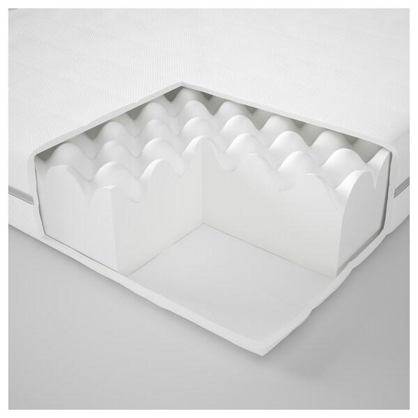 MALFORS Colchón escuma, Firmeza media/branco, 80x200 cm