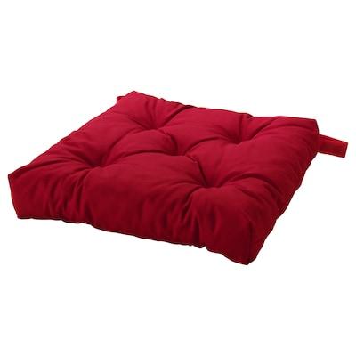 MALINDA Coxín para cadeira, vermello, 40/35x38x7 cm