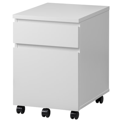 MALM Moble de caixóns con rodas